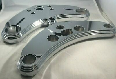 VTwin Chrome Waterfall Style Triple Tree Set for Harley Davidson # 75-0097