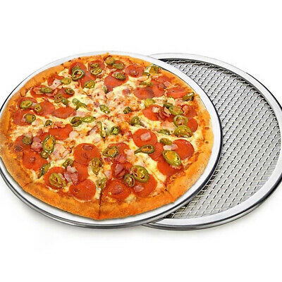 Kitchen Aluminum Alloy Non-Stick Pancake Pizza Mesh Baking Tray Bakeware Fil