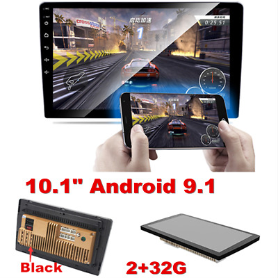 """Android 9.1 Double 2 Din 10.1"""" Car Stereo Radio Quad Core WIFI GPS Navigation"""