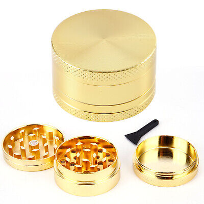 Couleur Dore 40mm Broyeur a main Moulin Herbe Epice pollen 3 couches Grinder