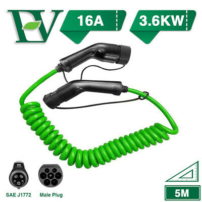 EV Charging Cable Electric Vehicle Charger J1772 Type 1 To Type 2 16A 3.6KW