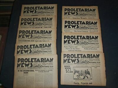 1936 Proletarian News Newspaper - Lot Of 9 - Complete Year - Np 4085