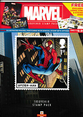 GB 2019 MARVEL SPIDER MAN A4 SIZE ROYAL MAIL SOUVENIR STAMP PACK for W.H.SMITH