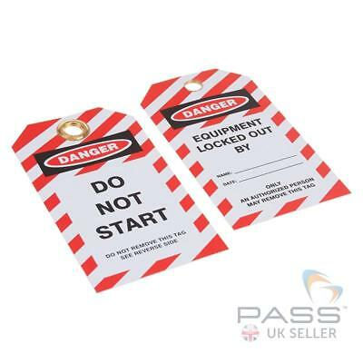 Lockout Tagout Tags - 'Do Not Start' - Pack of 10