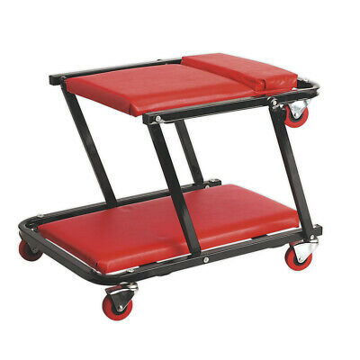 Sealey SCR78 Creeper/Seat Steel with 6 Wheels Deluxe
