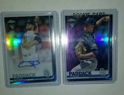 2019 Topps Chrome Update Chris Paddack Rookie RC Autograph Auto Refractor 70/175