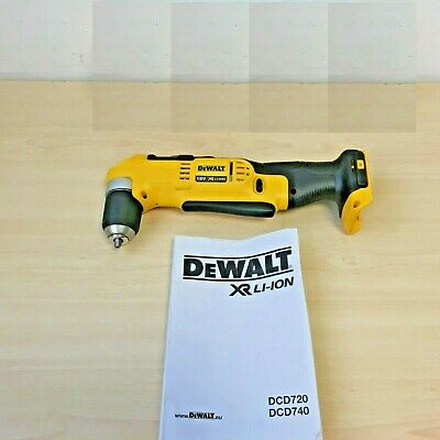 Dewalt DCD740N 18v XR li-ion right angle drill driver naked DCD740  *BODY ONLY*