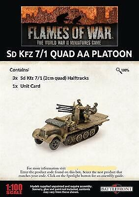 Flames of War German Horch Kfz-15 Staff Car Painted WW2 tbj