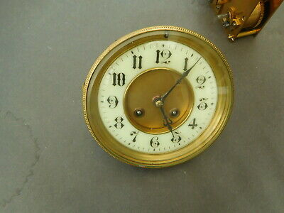 Antique French Clock Movement and Face