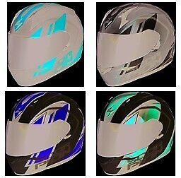WHITE//NEON LARGE Scorpion EXO-R420 Helmet 42-1135 Tracker