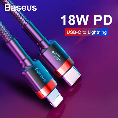 Baseus USB C to Lightning Charging Cable 18W PD Quick Charging Cable for iPhone