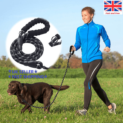 New Extra Strong Reflective Rope Dog Lead Foam Padded Handle Leash 5ft 150cm UK