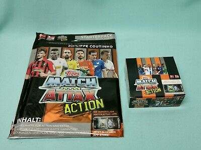Topps Match Attax Action  2019/2020 Starterpack + 1  Display / 20 Booster 19/20
