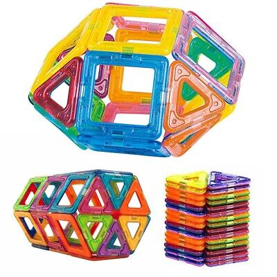 50/100X Magnetic Building Blocks Construction Educational Kids Magic Toy Gift UK