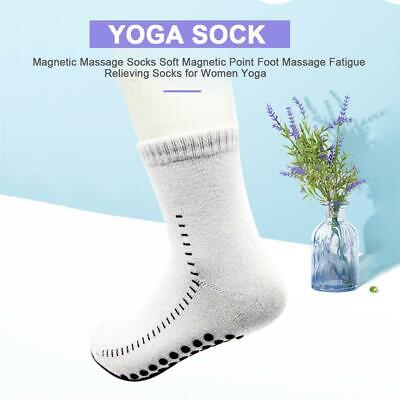 Soft Magnetic Point Soothing Fatigue Yoga Socks Bamboo Fiber Foot Massage Socks