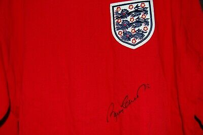 Bobby Charlton Signed 1966 World Cup Shirt Size Xl
