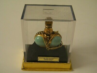Vtg Mini Prince Matchabelli Green Wind Song 1/4 Oz Perfume Bottle