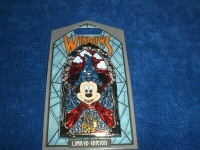 Disney Disneyland  2019 WINDOWS OF MAGIC  MICKEY SORCERER  LE Pin AUTHENTIC
