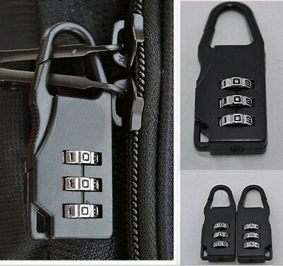 Travel Luggage Suitcase Combination Lock Padlocks Case Bags Password Code EF DO