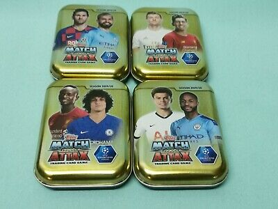 Topps Match Attax Champions League 2019/2020 alle 4 Mini Tin Boxen leer 19/20