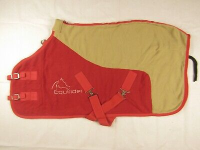 """Exclusive Two Tone Horse Cob Pony Fleece Rugs Travel Show Events Rugs 5'0 - 6'3"""""""