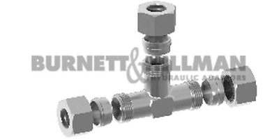 METRIC Male Tee (S Series) COMPLETE - Hydraulic Compression Fitting