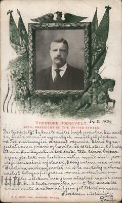 Teddy Roosevelt 1904 Theodore Roosevelt,26th President of the United States Krop