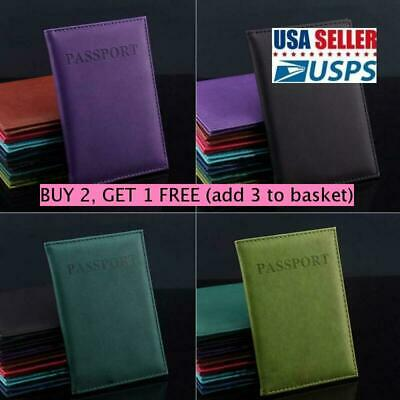 NEW Travel Utility Passport Holder PU Leather Cover ID Credit Card Holder Wallet