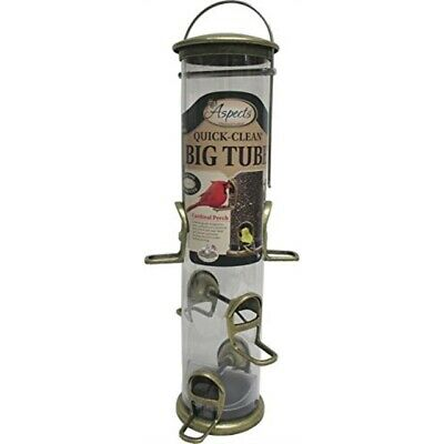 Aspects Brass Quick Clean Seed Tube Bird Feeder Large #396