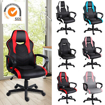 Gaming Chair Office Chair with Padded Armrests Ergonomics Racing PC Swivel Chair