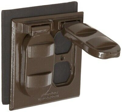 Two Gang White 2 Duplex Receptacle Morris Products 37212 Weatherproof Cover