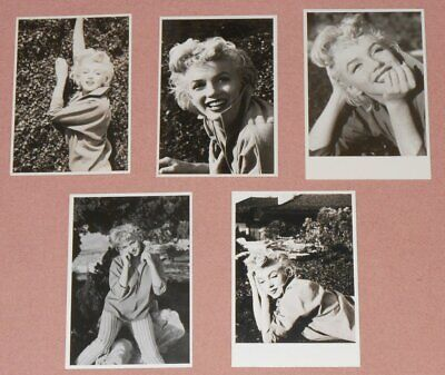 MARILYN MONROE - Set Of 5 B/W Postcards 1980's By TED BARON