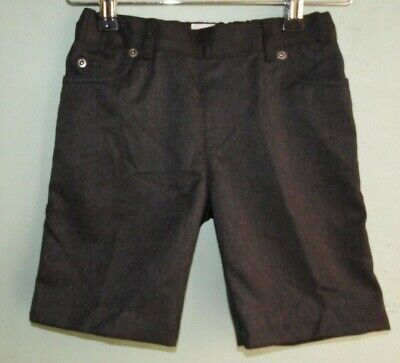 NEW BOYS EX STORE BACK TO SCHOOL GREY CASUAL LOOK SCHOOL SHORTS GS7 Age 3-9 yrs
