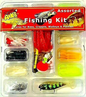 Arkie 1 inch Salted Tube Jigs  15 ct red//white
