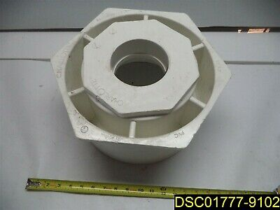 "4"" Fitting CRACKED/Chipped: 12"" x 4"" reducer PVC fitting pipe"