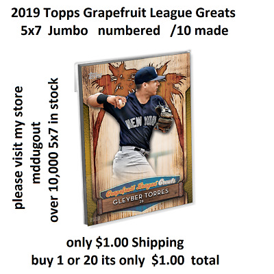 #GLG-7 Ty Cobb Tigers 5x7 Gold (#/10 made) 2019 Topps Grapefruit League Greats