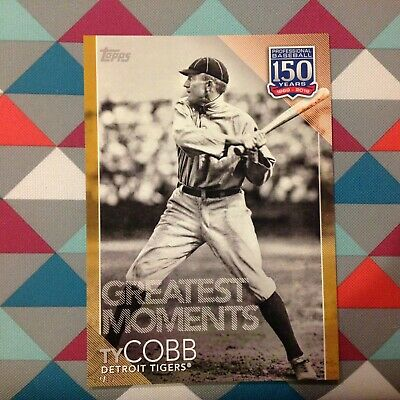 #21 Ty Cobb Tigers 5x7 (#/10 made) Gold 2019 Topps 150 Years Greatest Moments