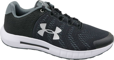 Under Armour Girls Gs Pursuit Bp Running Shoe, Kids, Black/White/silver