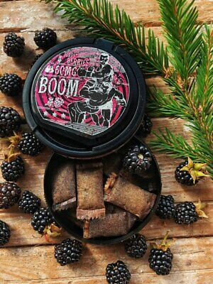 10 Cans BOOM SNUS 60mg Forest Berries TEA-Based Nicotine pods Extreme Strong NEW