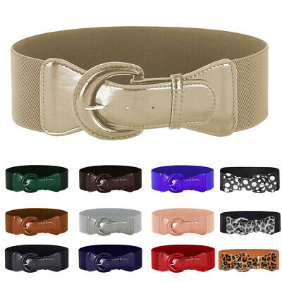 Fashion Women Lady Girl Waist Belt Elastic Wide PU Leather Casual Waistband Part
