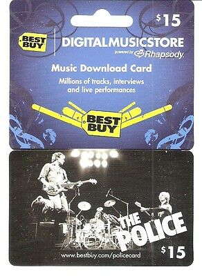 The POLICE Collectible Gift Card Best Buy Music No $ Value (not activated)