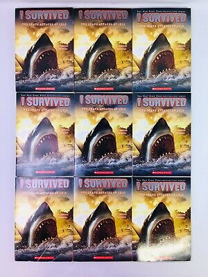 Lot 9 I Survived THE SHARK ATTACK of 1916 Book Guided Reading Teachers Class Set