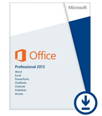 Microsoft Office 2013 Pro Professional Plus Retail - 2 PC