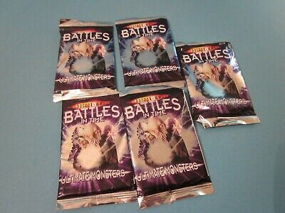 Doctor Who. Battles in Time Cards. 5 Packs of Ultimate Monster Cards.