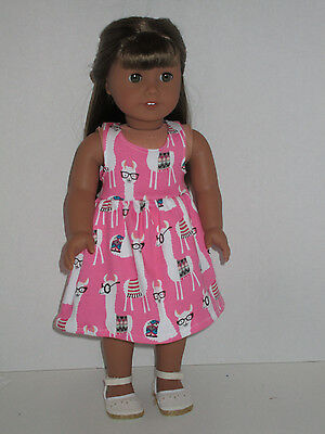 """Llama's with Glasses Sundress for 18"""" Doll Clothes American Girl"""