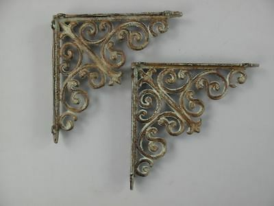Shelf 2 Shelf Support Art Nouveau Vintage Style Decor Iron Coloured L.25x25