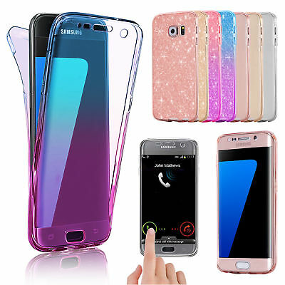 For Samsung Galaxy S8 S9 Plus S7 Edge 360 Silicone Gel Case Cover Front & Back
