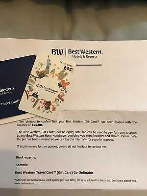 Best Western Travel Card With £25 Credit