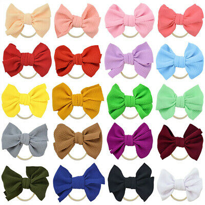 Baby Girls Kids Toddler Bow Knot Hairband Headband Stretch Turban Head Wrap