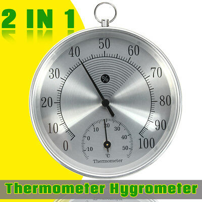 Wall Hanging Indoor Outdoor Temperature Humidity Thermometer Hygrometer Meter AU